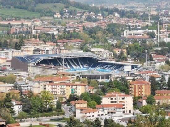outside view of Gewiss Stadium