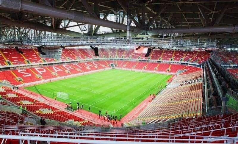 panorama empty interior Otkritie Arena Moscow