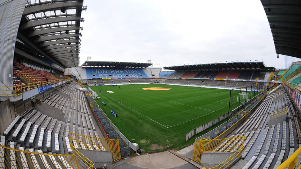 Panoramic view of empty stadium in Bruges