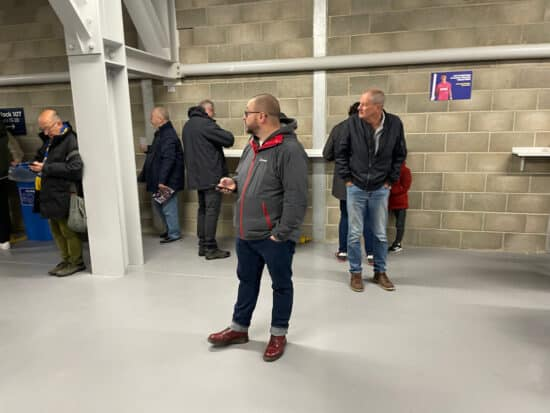 fans on the concourse at plough lane