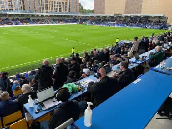 media area at plough lane football ground
