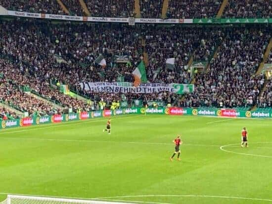 view of a football game at celtic park in glasgow